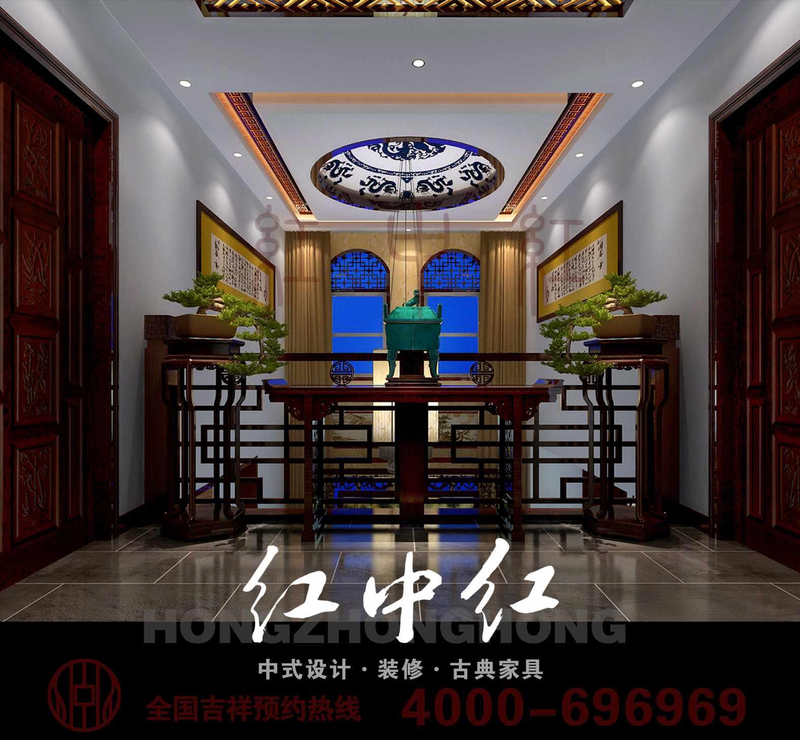 本案是由红中红中式设计机构设计的一套自然清新的中式装修效果图,因为主人热爱中式文化,但更崇尚自然优雅之气,设计师在对于家居进行设计的时候,正是结合了古典艺术的美丽和满足现代家居生活需求的基础上,巧妙搭配,衬托了雅居丝丝绿意,暗香浮动,古韵古香,家居于此,忙碌之余、品位人生,与墨香为伴,不愧是一种很好的生活享受。