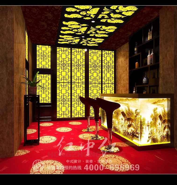广州中式酒店装修效果图 修心怡性高清图片