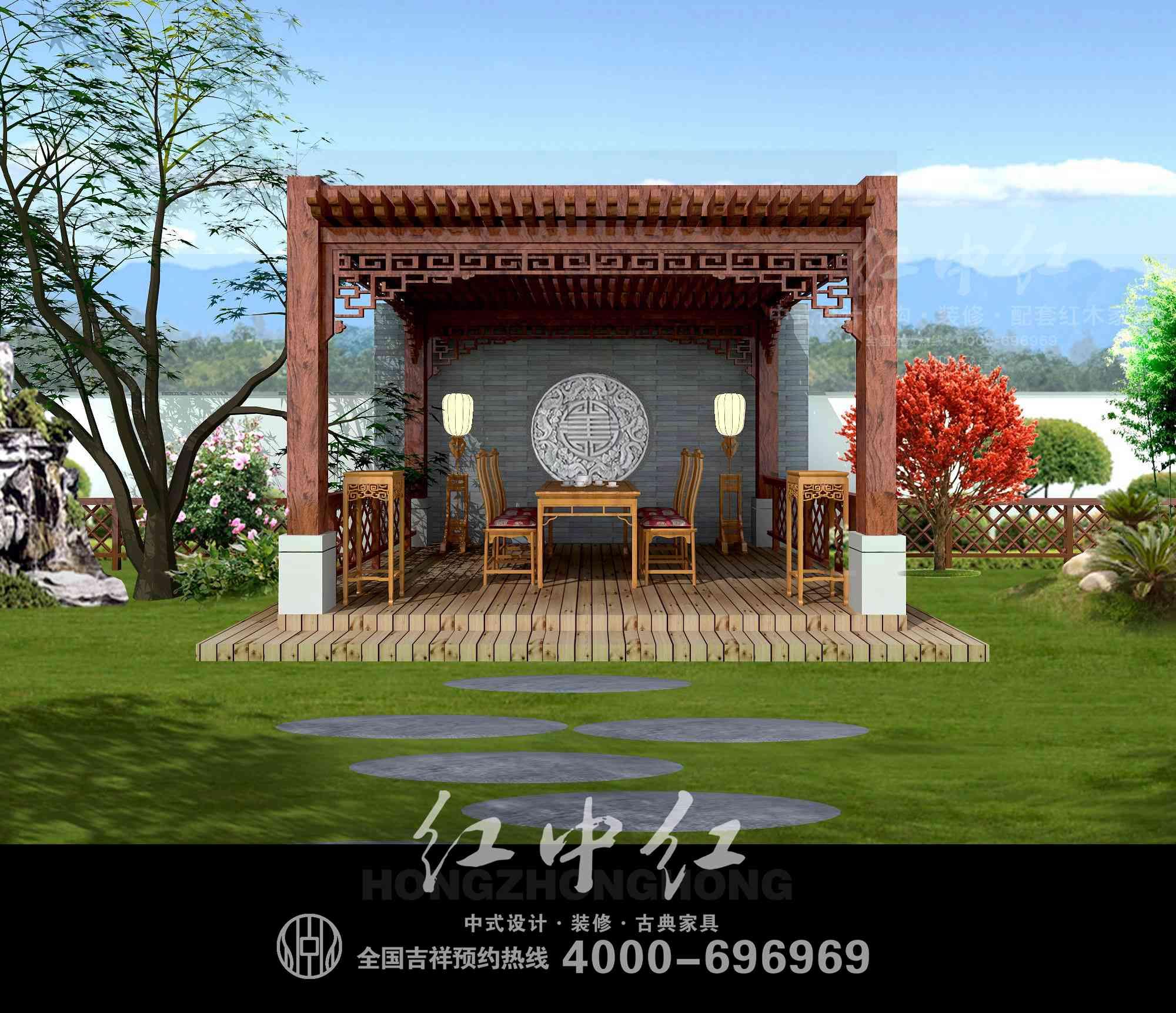 中式别墅大院设计装修