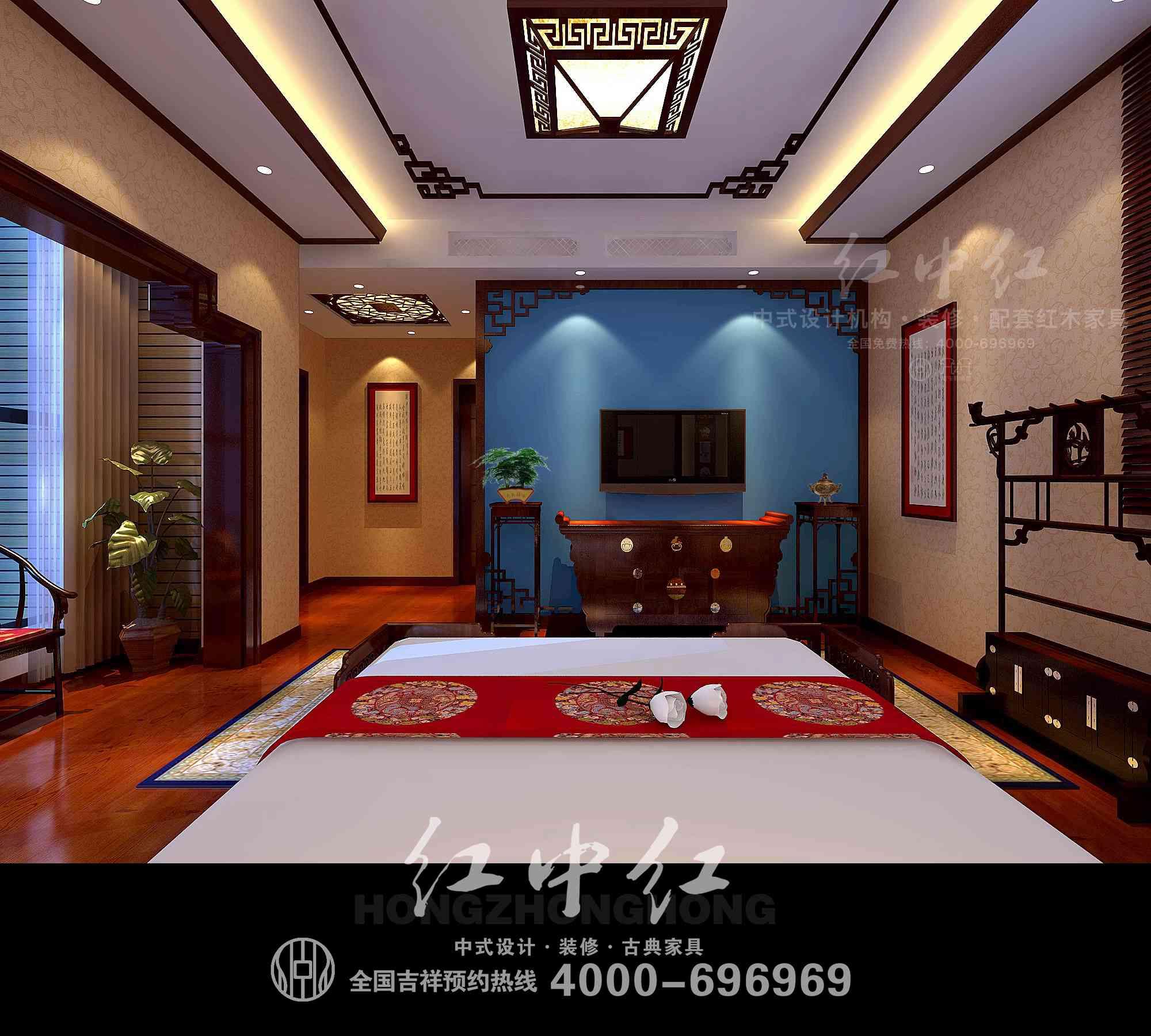 中式别墅设计效果图—古典与现代的完美融合